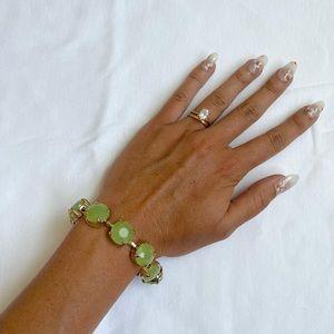 Vintage Jade & Gold Bracelet